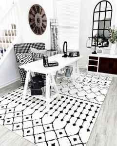 19 cozy farmhouse living room rug decor ideas