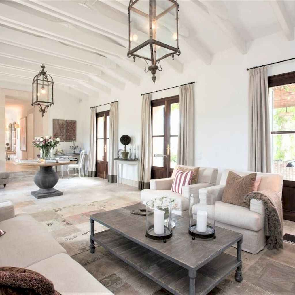 40 cozy farmhouse living room rug decor ideas