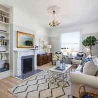 41 cozy farmhouse living room rug decor ideas