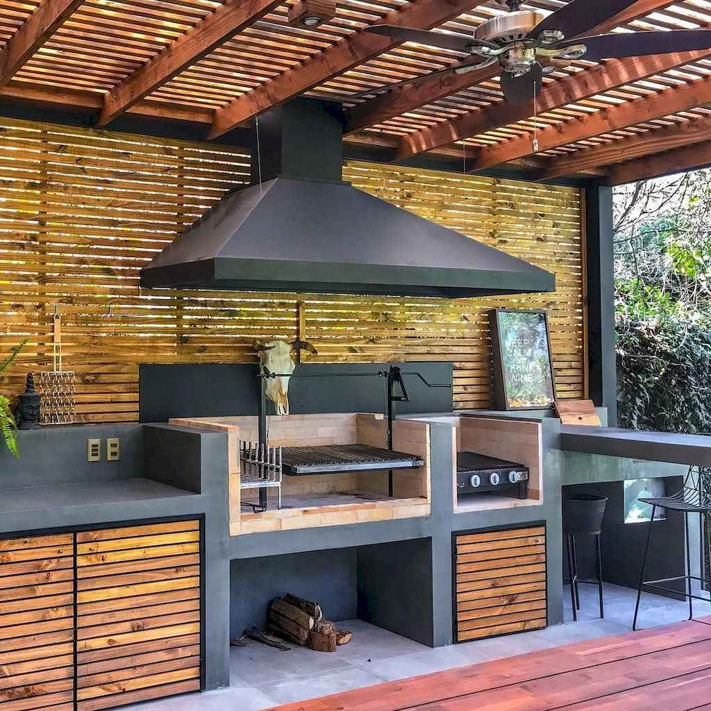 41 fantastic outdoor kitchen design for your summer ideas