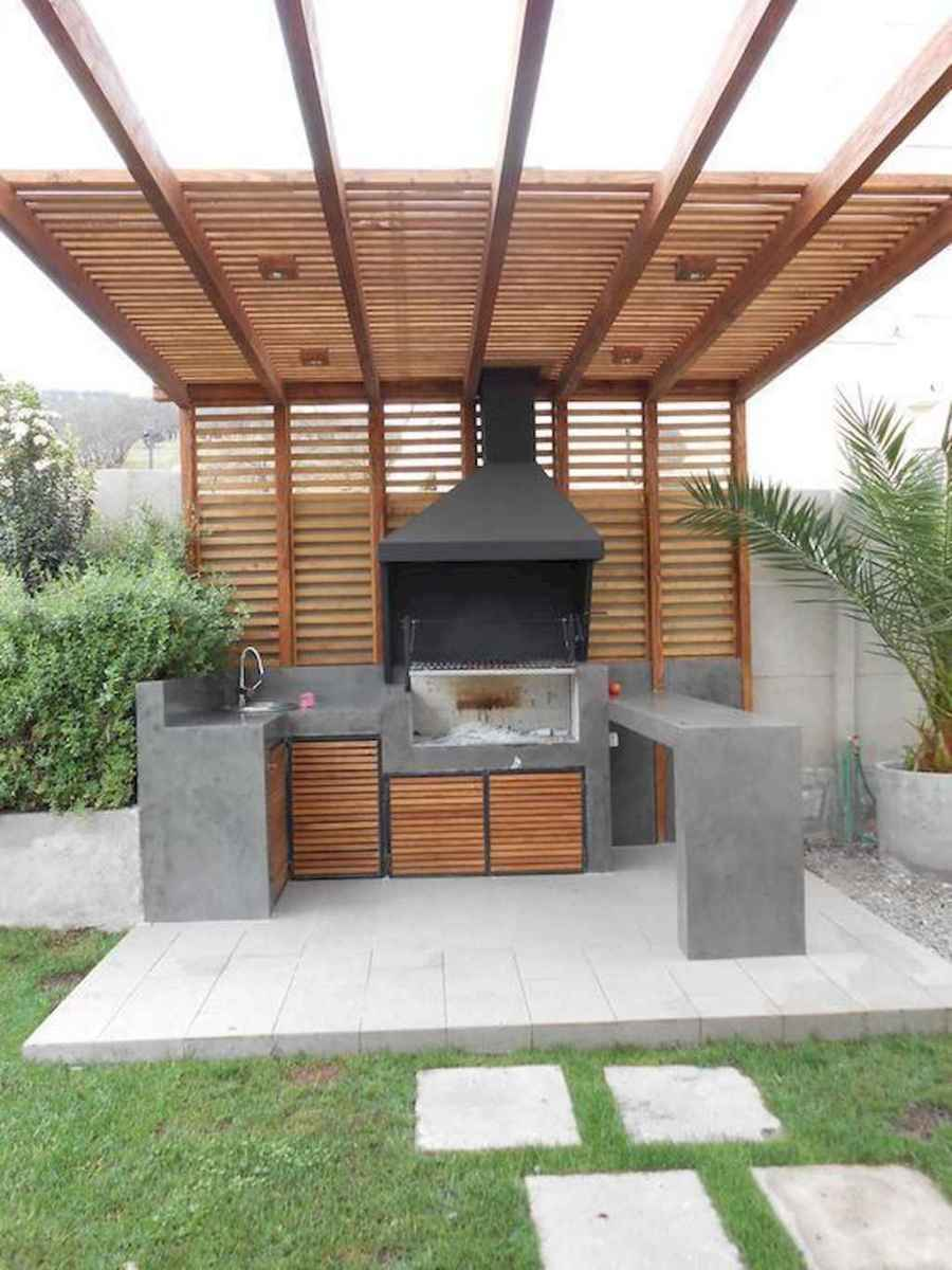 45 fantastic outdoor kitchen design for your summer ideas