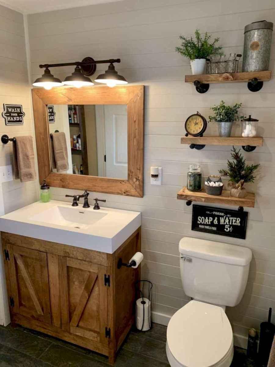 46 beautiful farmhouse bathroom remodel ideas