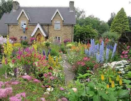 47 stunning front yard cottage garden inspiration ideas