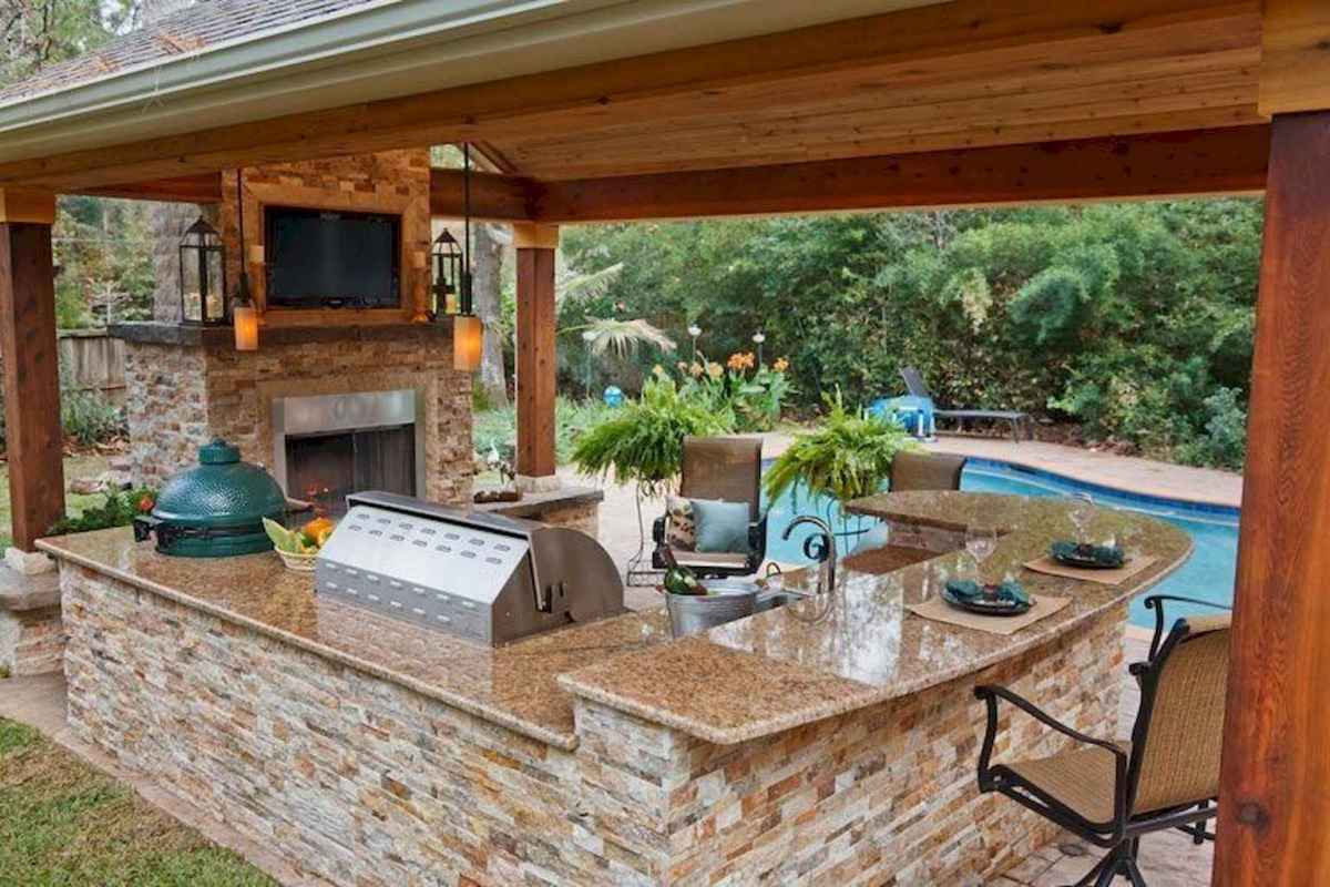 71 fantastic outdoor kitchen design for your summer ideas