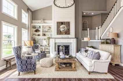 72 best modern farmhouse living room curtains decor ideas