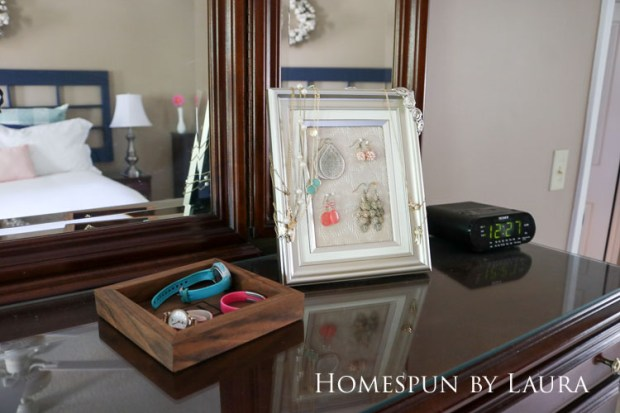 Master bedroom refresh | Homespun by Laura | Dresser with jewelry storage