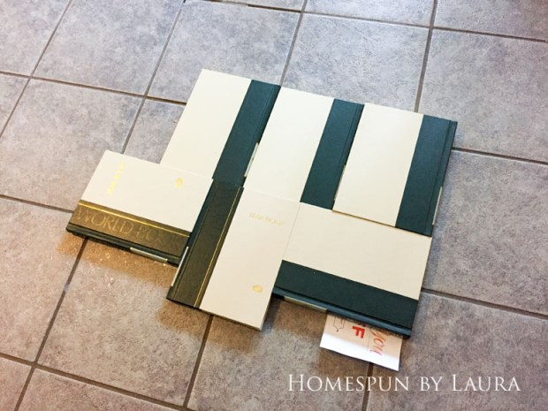 "$75 DIY Powder Room (and Pantry!) Update: One Room Challenge Week 3 | Homespun by Laura | Painting a linoleum floor with Cutting Edge ""Augusta"" stencil: Preparing the surface"