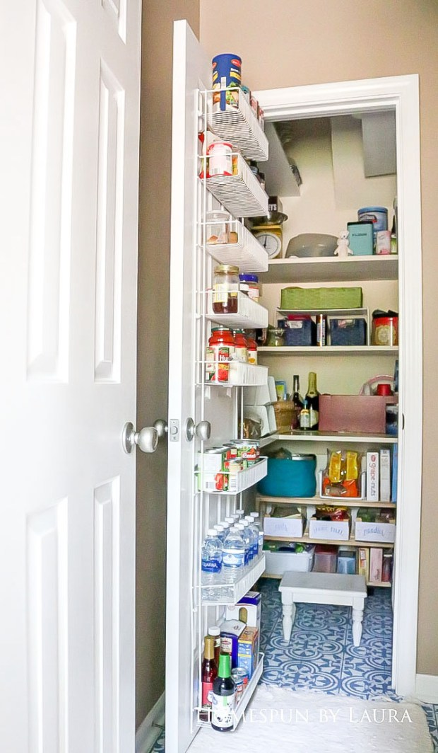 $75 DIY Powder Room (and Pantry!) Update: One Room Challenge Reveal | Homespun by Laura