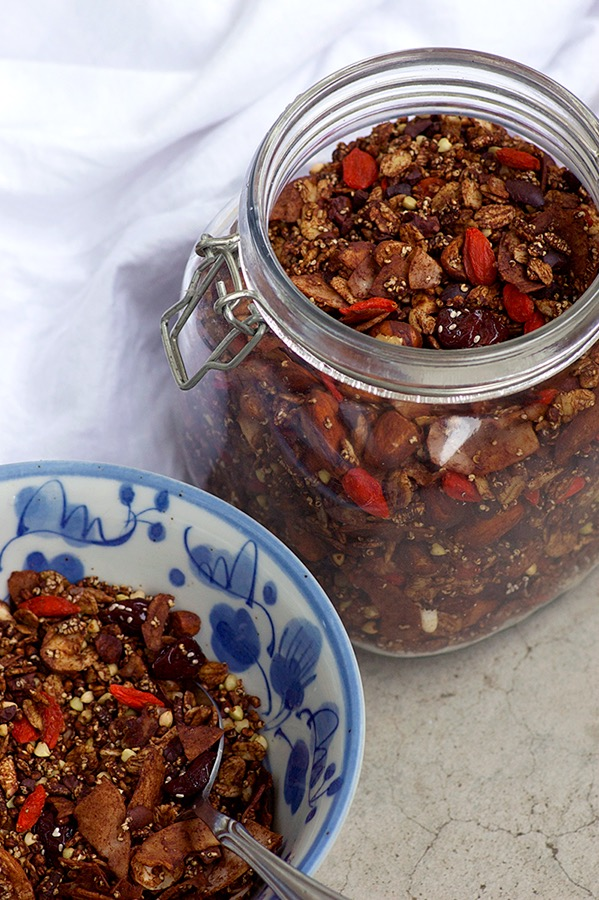 Supercharged Cherry Ripe Granola - Homespun Capers