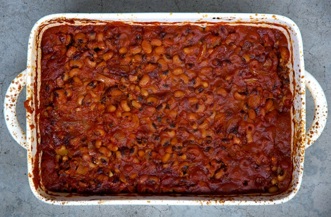 Maple Chipotle BBQ Black Eyed Peas - Homespun Capers
