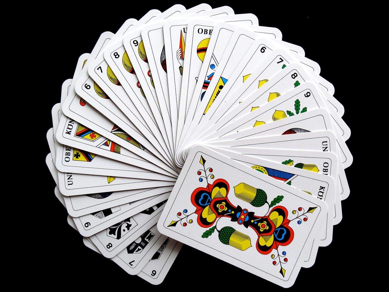 cards, jass cards, card game