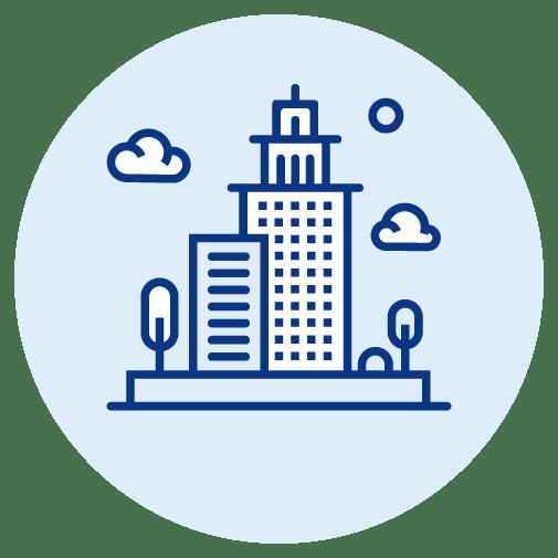 corporate building icon
