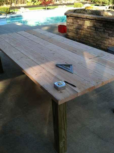 18 DIY Outdoor Dining Room Tables