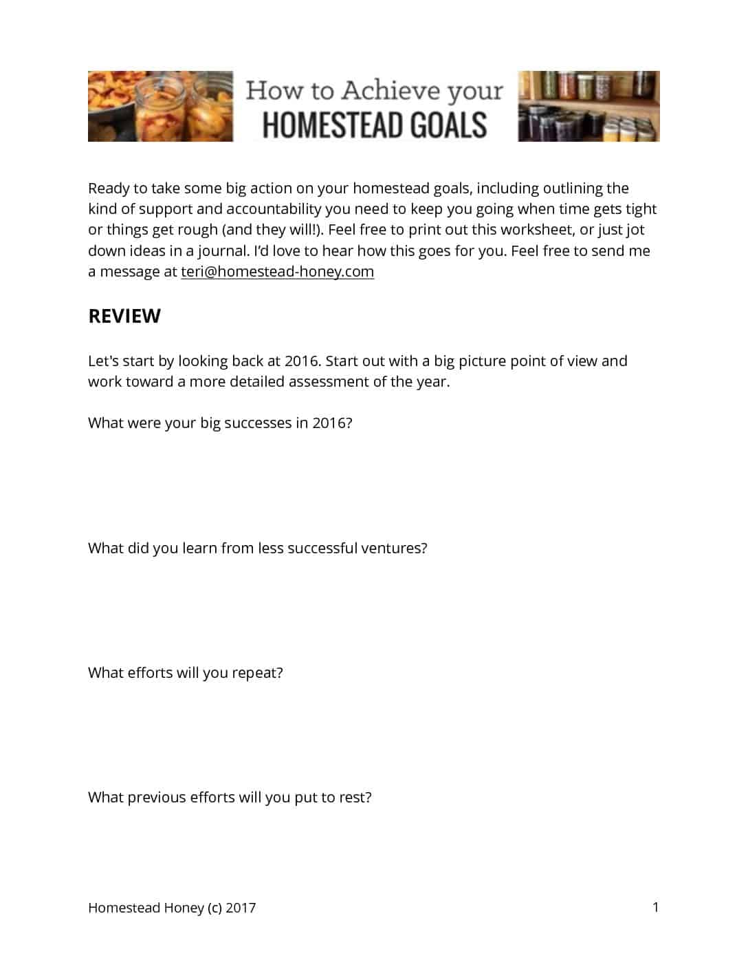 How To Achieve Your Homesteading Goals In
