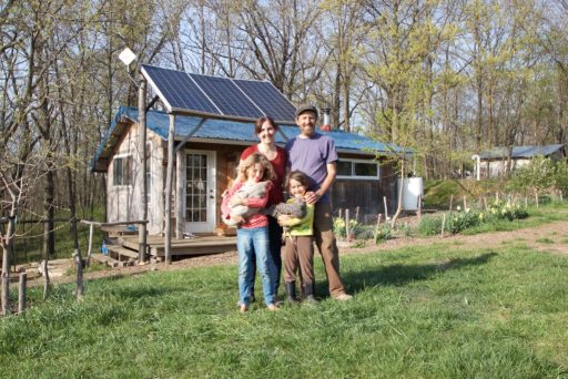 Teri Page and her family on their homestead in Missouri