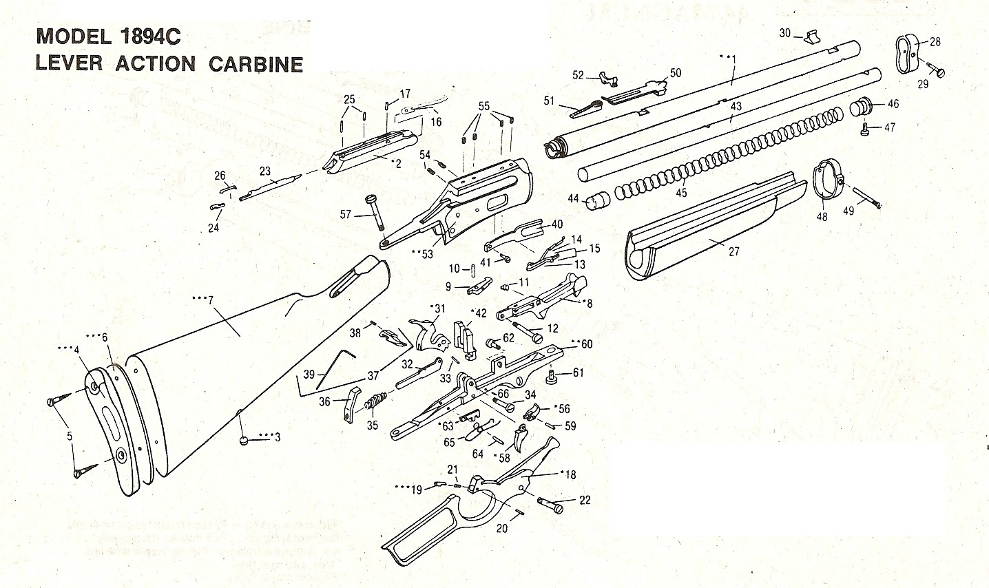 Marlin Model Parts Diagram