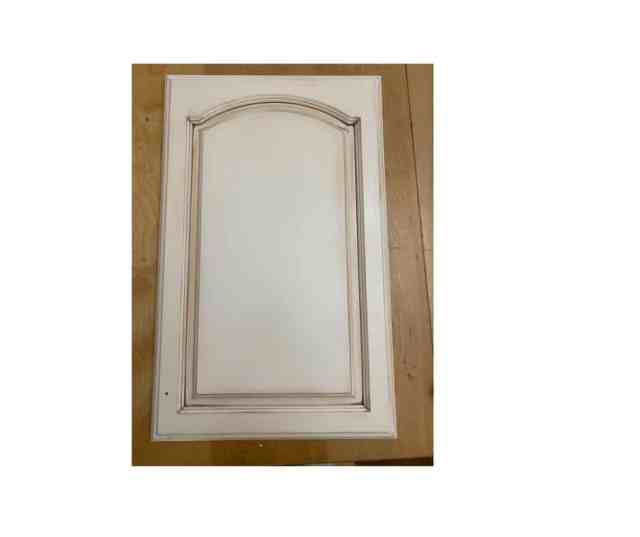 Glazed and painted cabinet door