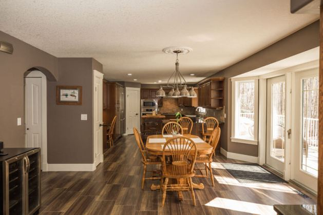 kitchen renovation layout ideas red deer with open space sunlight kitchen table dark hard wood floors