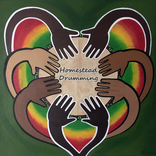 Homestead Drumming logo djembe