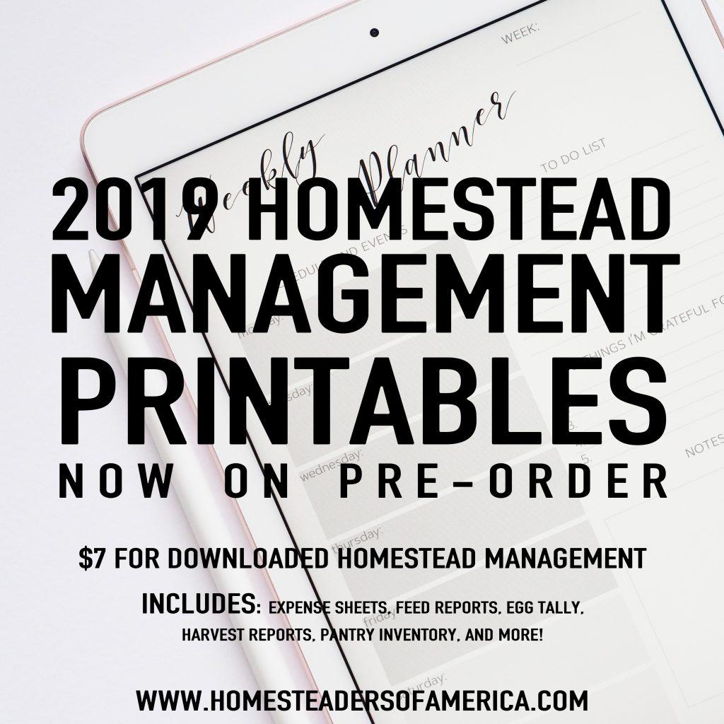 Homestead Management Printables
