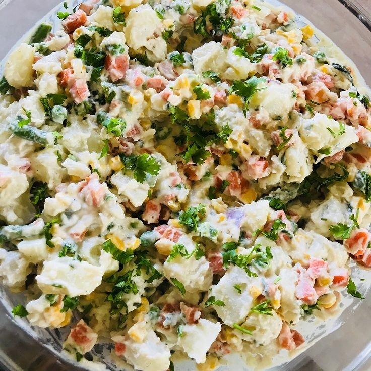 vegan herby potato salad healthy