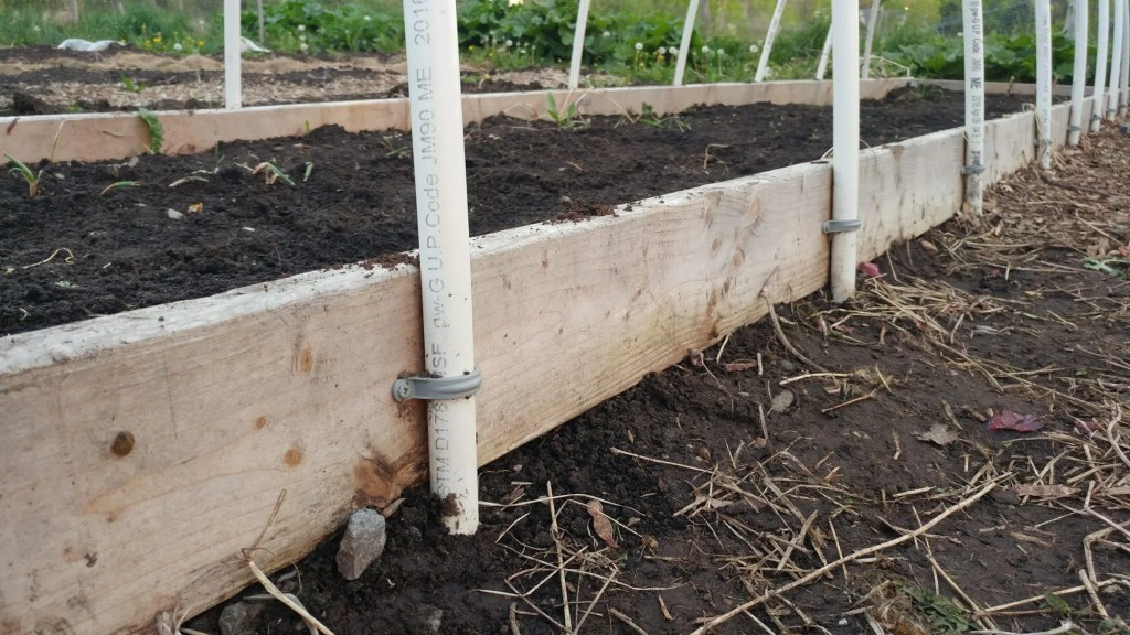 pvc pipes for raised bed cover