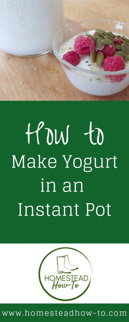 how to make yogurt in an instant pot PIN