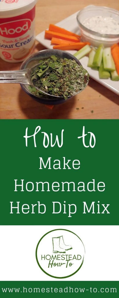 Homemade Herb Dip Mix