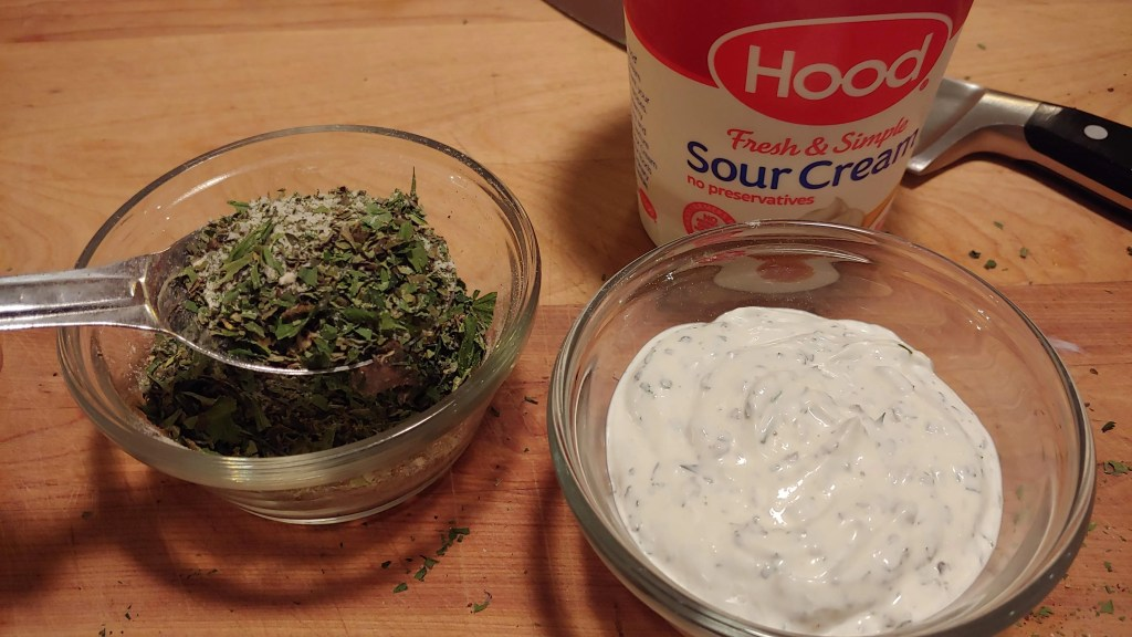 sour cream and mayonnaise dip mix