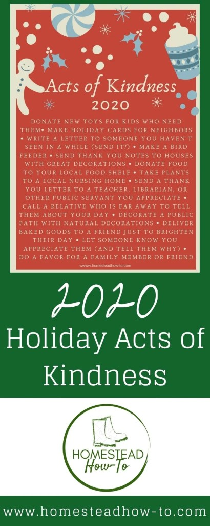 2020 Holiday Acts of Kindness