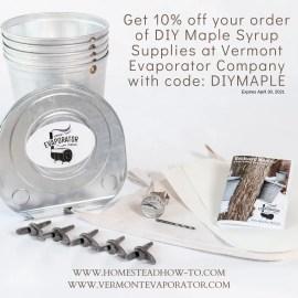 10% coupon to Vermont Evaporator company