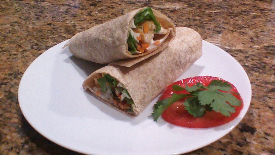Chicken Wrap Finished