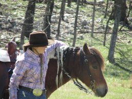 Cowgirl and her horse