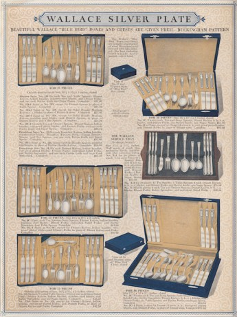 Wallace Silver Plate catalog,1925.