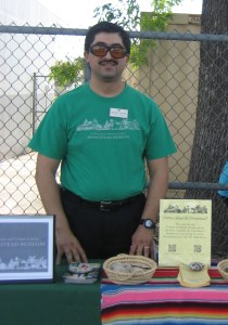 Ernesto is always ready to give a plug for the Homestead Museum! He's an enthusiastic off-site promoter.