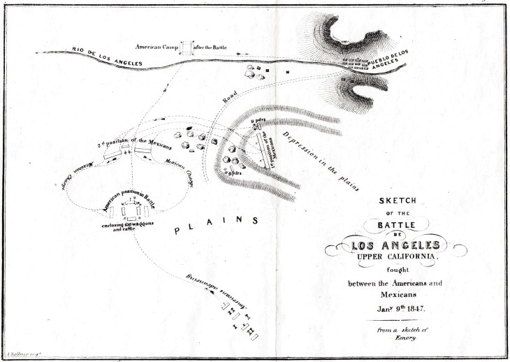 Battle of Los Angeles map 1847