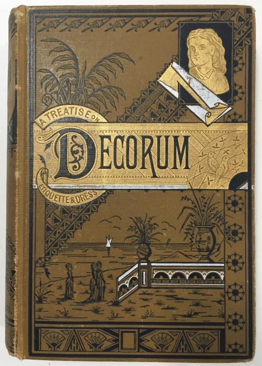 Victorian etiquette book cover
