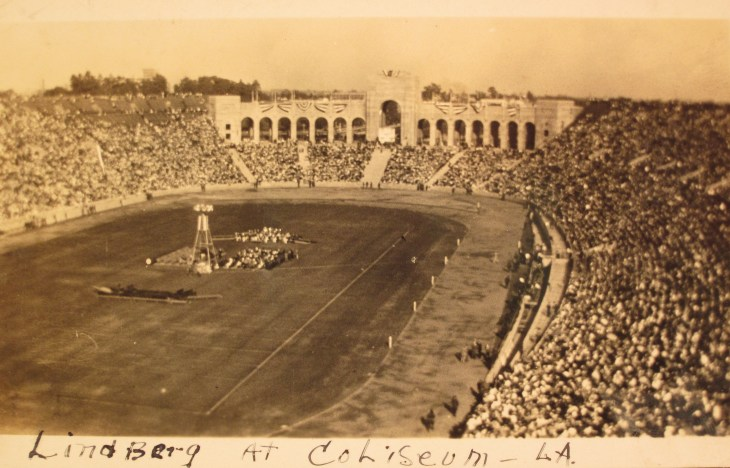 Lindbergh salute Coliseum 1927