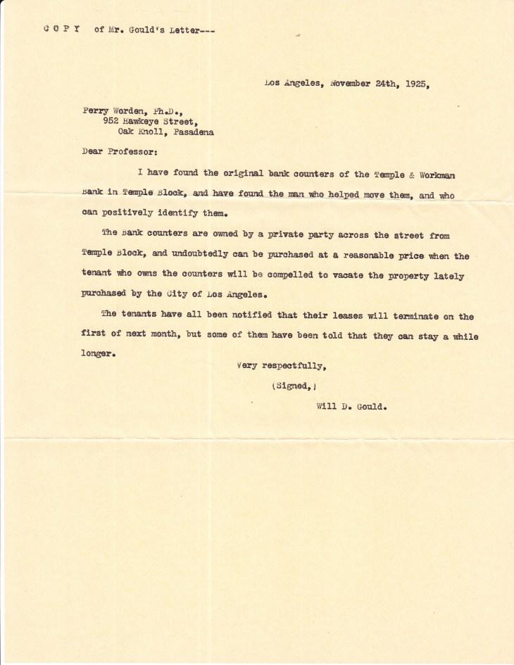 Copy Gould to Worden 24Nov1925