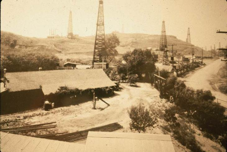 Basye Adobe Temple Oil Field 1920s