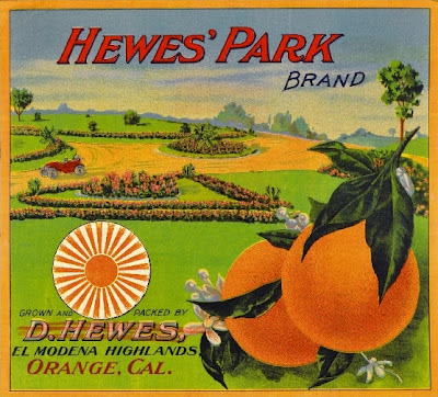 Hewes Park crate label