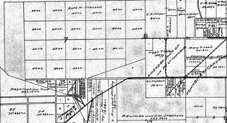 Hollywood map 1903 Ponet tract
