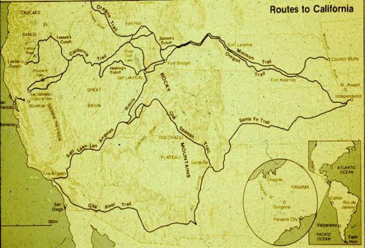 Routes to California