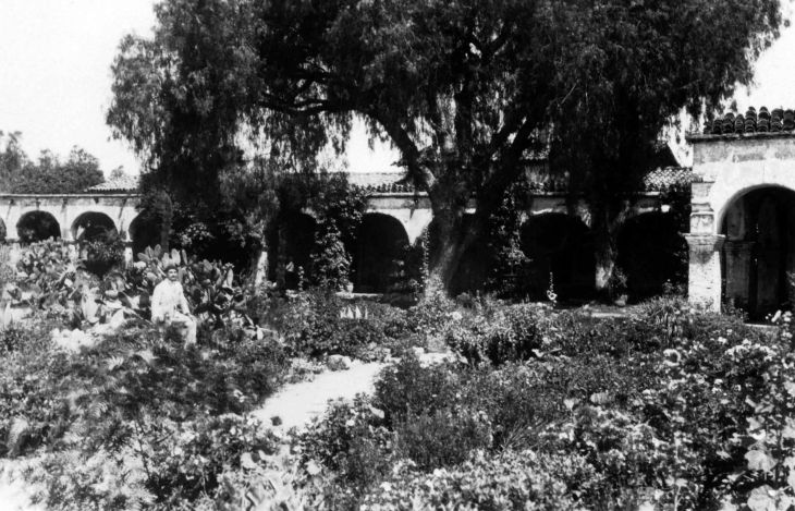 Thomas W Temple II In The Garden At Mission San Juan Capistrano