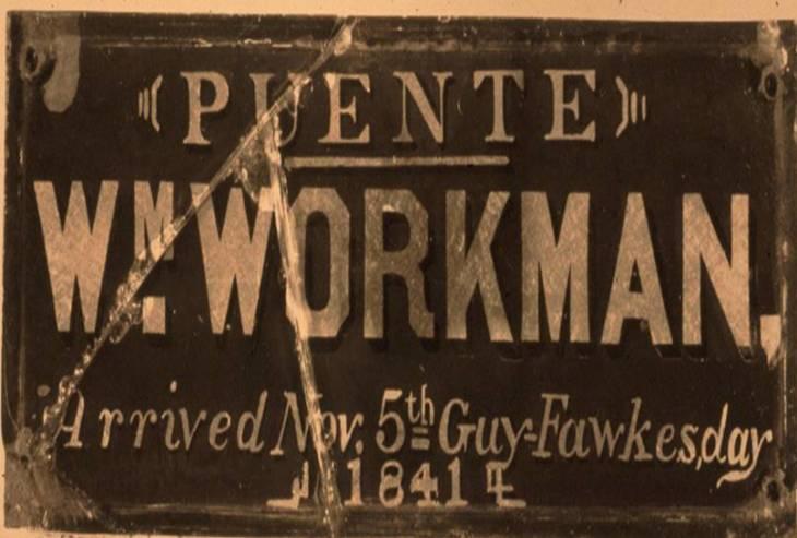 Workman Arrival Plaque