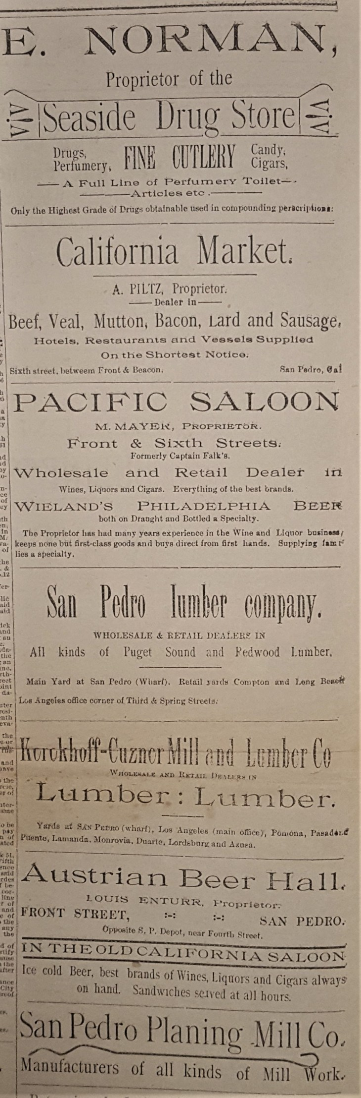 San Pedro Times Ads 1