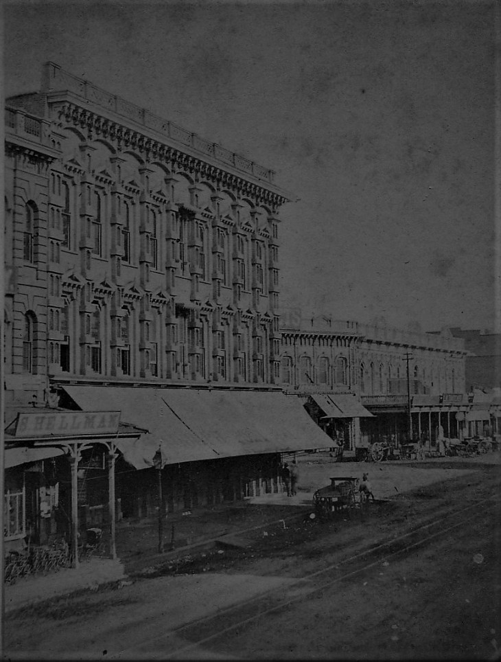 Temple Block from Main looking north 1870s