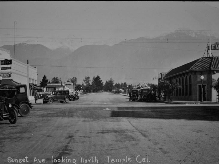 Temple City Blvd at Las Tunas 1926