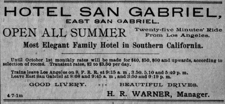 Hotel San Gabriel ad LA_Herald_Apr_7__1891_