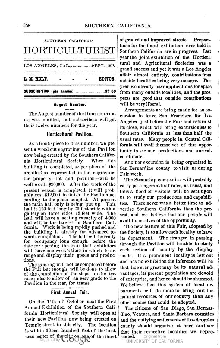 Horicultural Pavilion article Sep 78